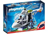 playmobil city action helikopter policyjny z reflektorem led 6921