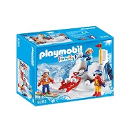 PLAYMOBIL FAMILY FUN BITWA NA ŚNIEŻKI 9283