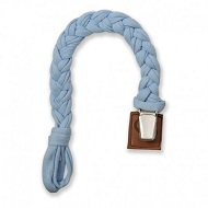 Zawieszka warkoczykowa do smoczka Hi Little One Pacifire holder Baby Blue