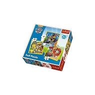PUZZLE 3W1 PSI PATROL MARSHALL RUBBLE CHASE TREFL 34839